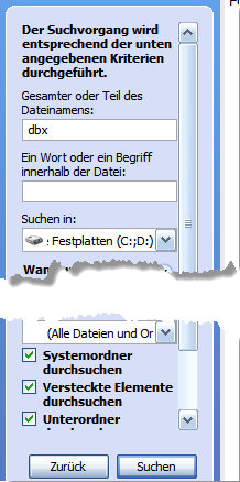 Windows Suche