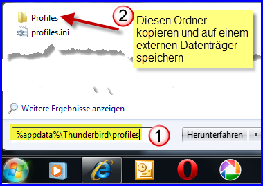 Der Ordner Profiles in Windows 7
