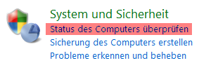 Status der Computersicherheit anzeigen