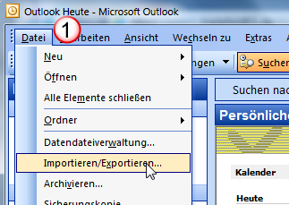 Importieren nach Outlook