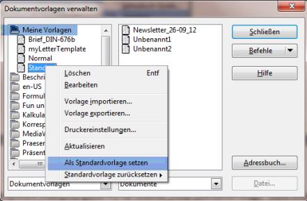 LibreOffice/Openoffice Standardvorlage ändern - Computer-Treff