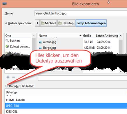 """Bild 18 Dialogfenster """"Exportieren"""""""