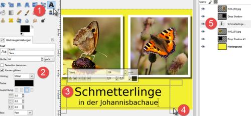 Bild 17 Texterstellung mit GIMP